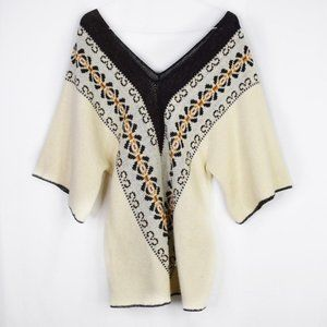 Sturbridge by Roosevelt Vintage Poncho Sweater
